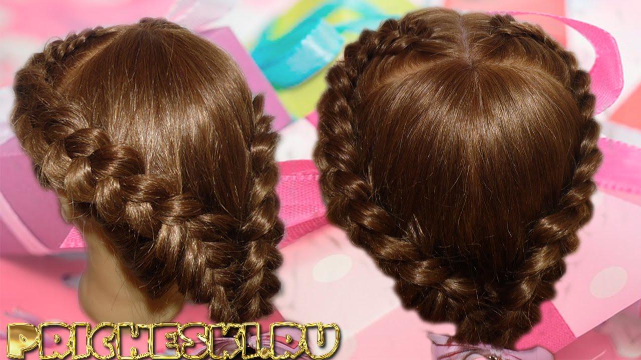 Коса сердечко на волосы