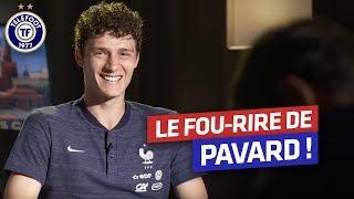 Le fou rire de Benjamin Pavard (Equipe de France)
