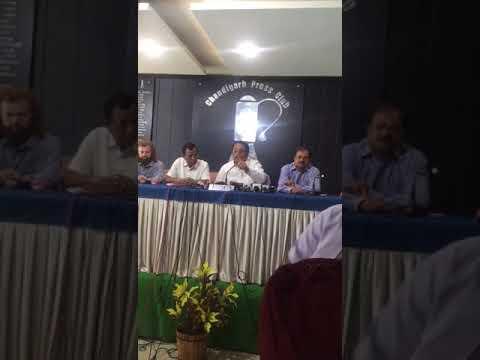 Press conference of  Punjab BJP president Shwait Malik in Chandigarh