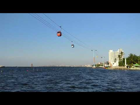 Cable Car Time-lapse Ancol Beach Jakarta Indonesia
