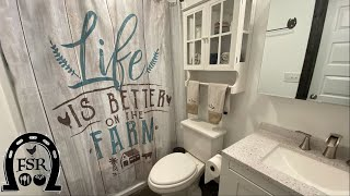 Barndominium Bathroom Tour - Our first fully functional and completed room of this DIY build.