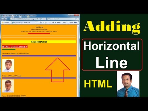 Add Horizontal Line In Html - Lesson 9