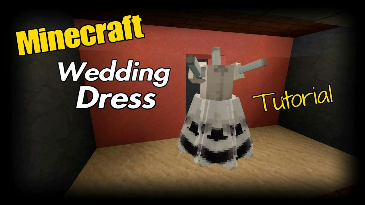 Minecraft Wedding Dress Tutorial Youtube