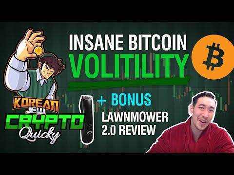 INSANE BITCOIN VOLATILITY! ALTCOIN PRICE ANALYSIS + BONUS LAWNMOWER 2.0 REVIEW