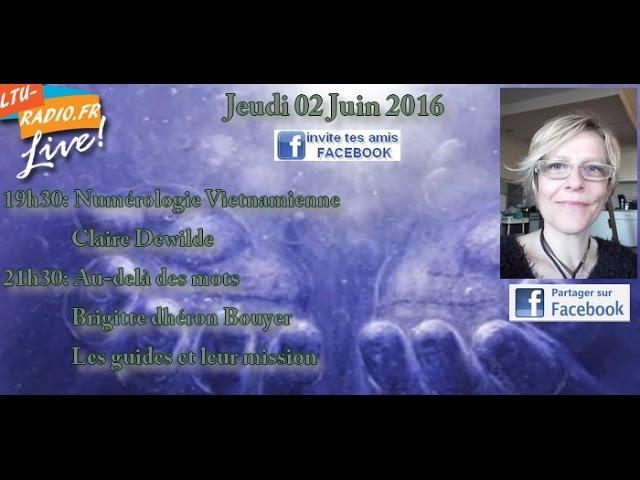 Au delà des mots avec Brigitte Bouyer - la mission des guides - 02 juin 2016