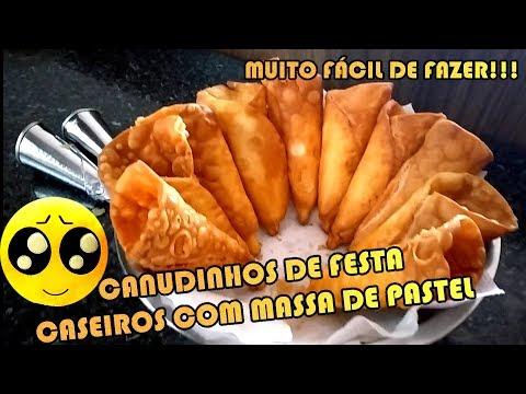 CANUDINHO DE FESTA CASEIRO COM MASSA DE PASTEL | Como Fazer Fácil #Receitas 14