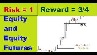 INTRADAY TRADING STRATEGY FOR EQUITIES AND FUTURES WITH BEST RISK REWARD RATIO