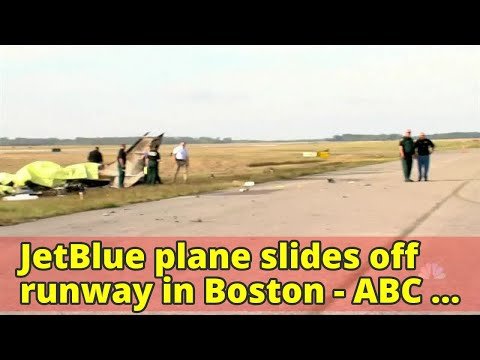 JetBlue plane slides off runway in Boston - ABC News