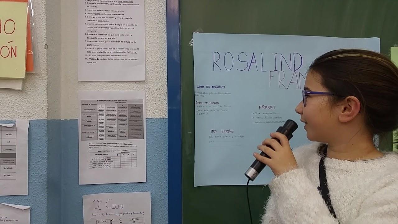 Biografías De Mujeres Célebres Rosalind Franklin