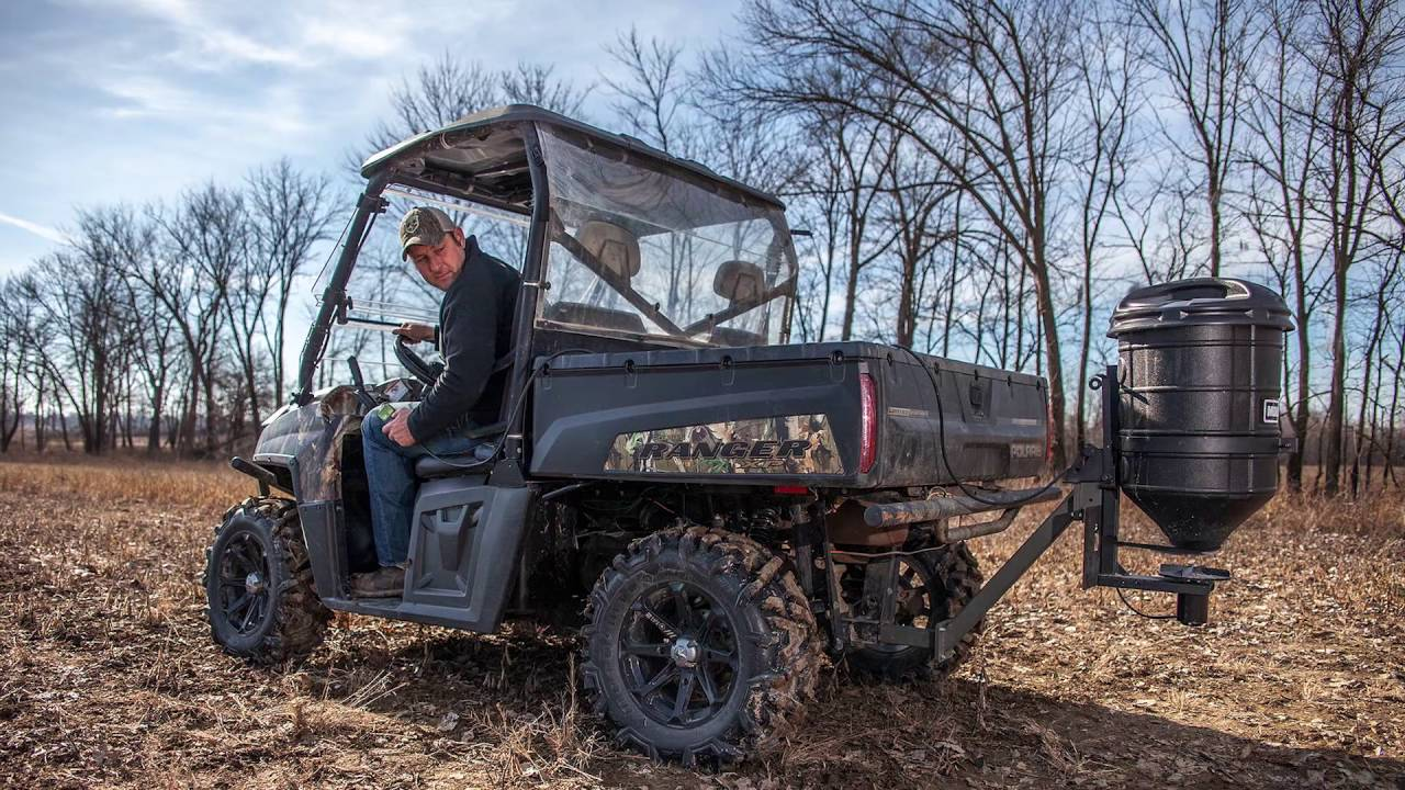 Moultrie Atv Spreader Electronic Feed Gate Youtube