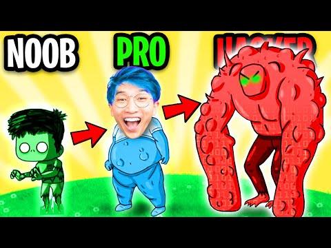 Can We Go NOOB vs PRO vs HACKER In ZOMBEAT.IO!? (MAX LEVEL!)
