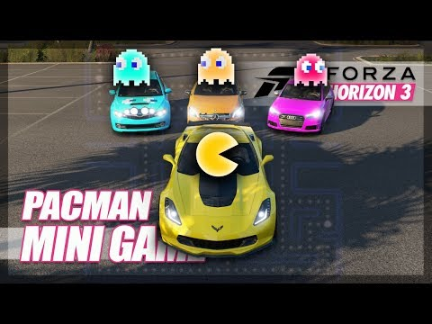 Forza Horizon 3 - Playing Pac-Man! (Mini Games & Funny Moments)