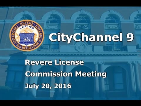 (07/20/16) License Commission Meeting
