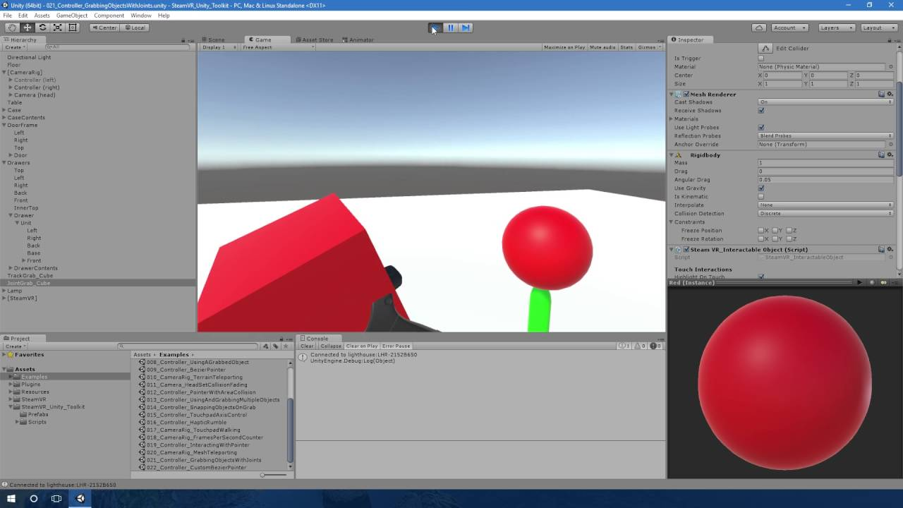 021_Controller_GrabbingObjectsWithJoints - Examples Tour - [SteamVR Unity  Toolkit]
