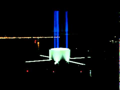 In memory of John Lennon. IMAGINE PEACE TOWER Relights 8pm 9th Oct. 2011