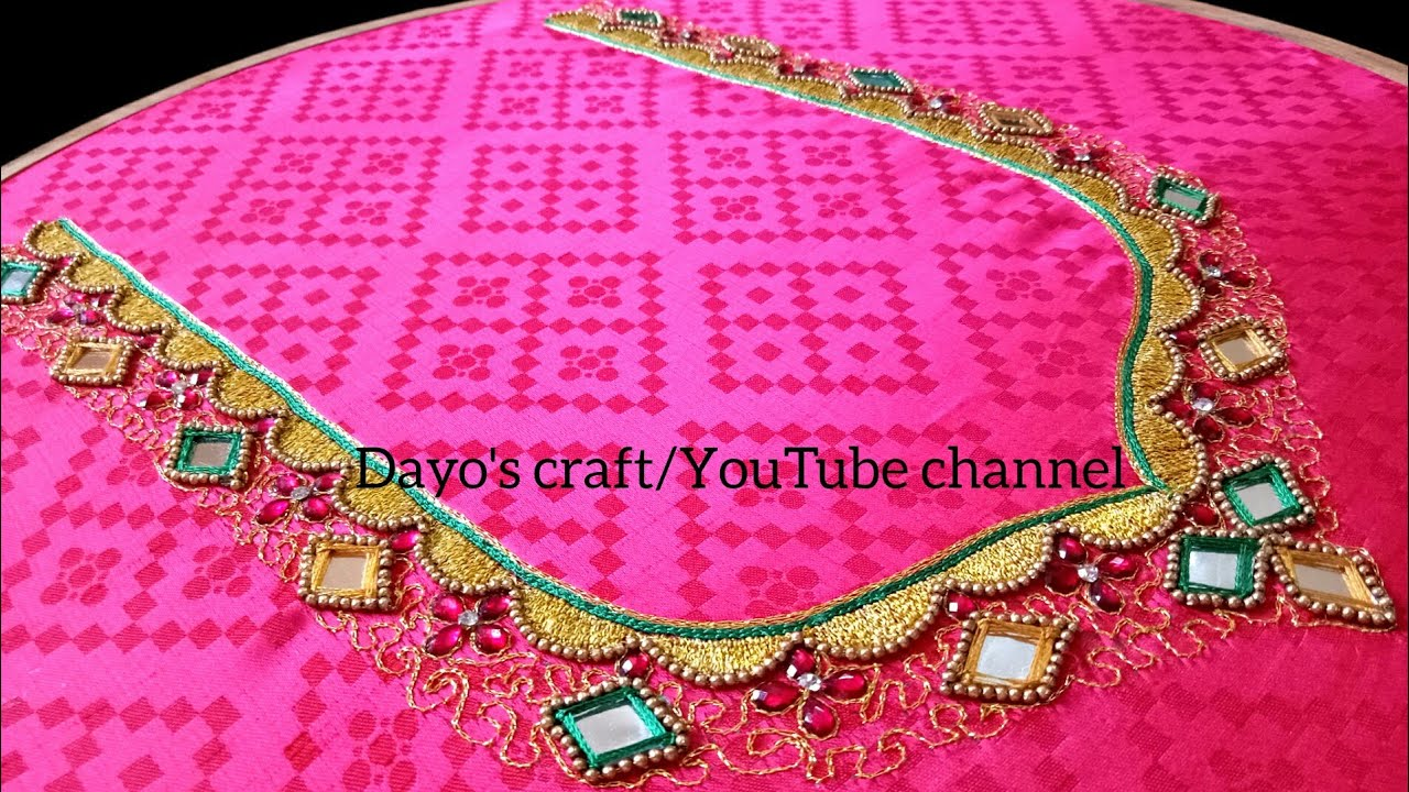 Easy aari work designs for simple designer saree  making design ...