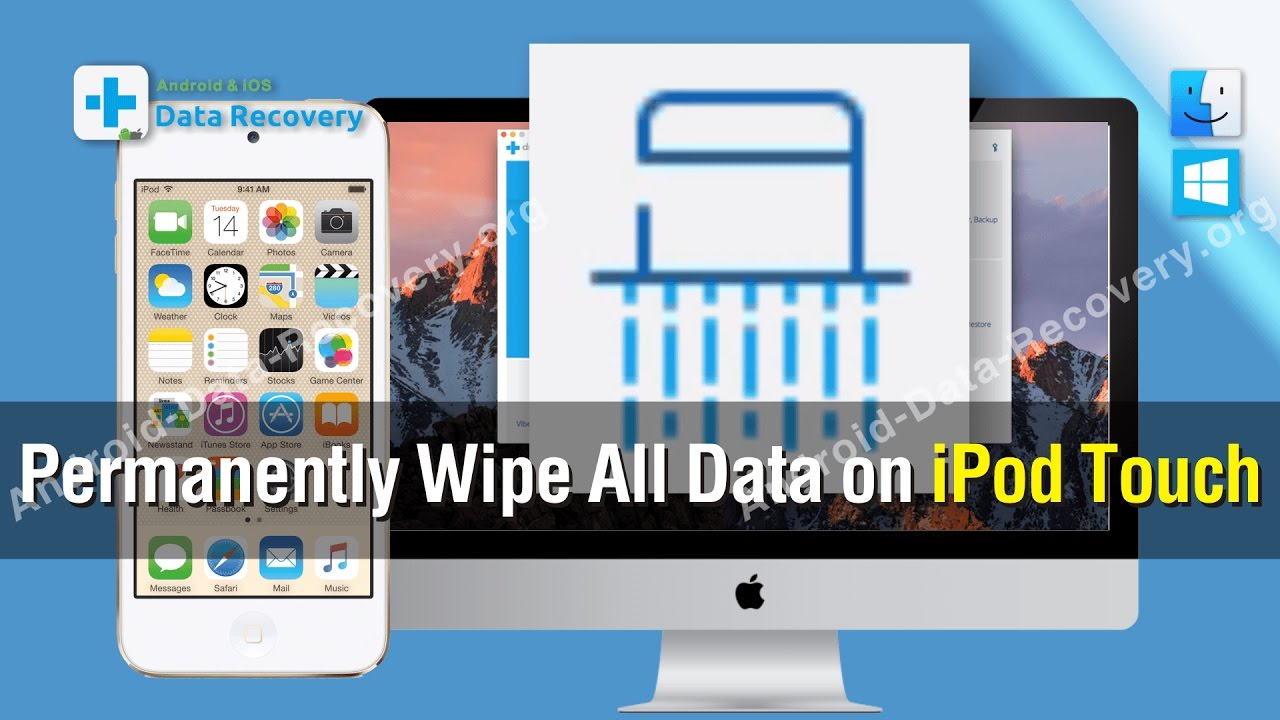 How to Permanently Wipe All Data on iPod Touch - YouTube