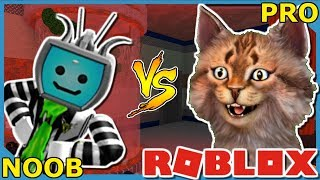 ROBLOX FLEE THE FACILITY NOOB VS PRO WITH XdarzethX