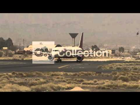 YEMEN:DAMAGED FACILITIES AT SANAA AIRPORT LONG