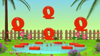 Letter Q Song - 3D Animation Learning English Alphabet ABC Songs For children