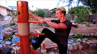 Top 10 Wing Chun Wooden Dummy Techniques and Fighting Applications of the Muk Jong!