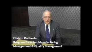 Quality and Manufacturing Management at the University of Minnesota, Crookston - Christo Robberts