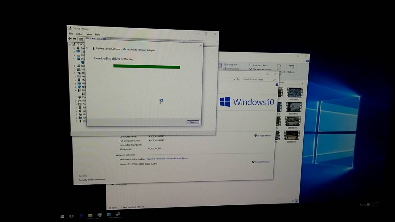 Graphics-card driver update, Windows 10 (bad video ...