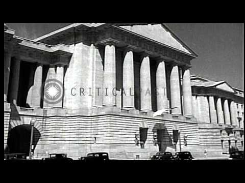 Department of labor and department of justice buildings in Washington DC, United ...HD Stock Footage