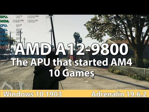 Gaming On AMD A12-9800 APU In 2019 - 10 Games - Benchmark Test