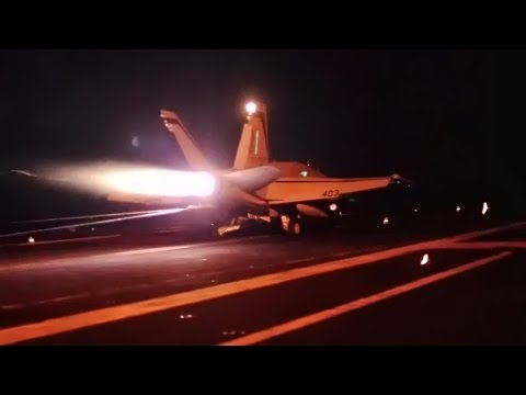 Strike Aircraft Launch Aboard USS Carl Vinson (CVN-70)