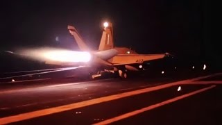 Strike Aircraft Launch Aboard USS Carl Vinson (CVN-70)