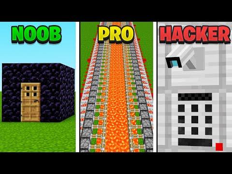 🔒 SICHERES HAUS NOOB VS PRO VS HACKER in Minecraft