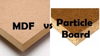 Difference between MDF & particleboard