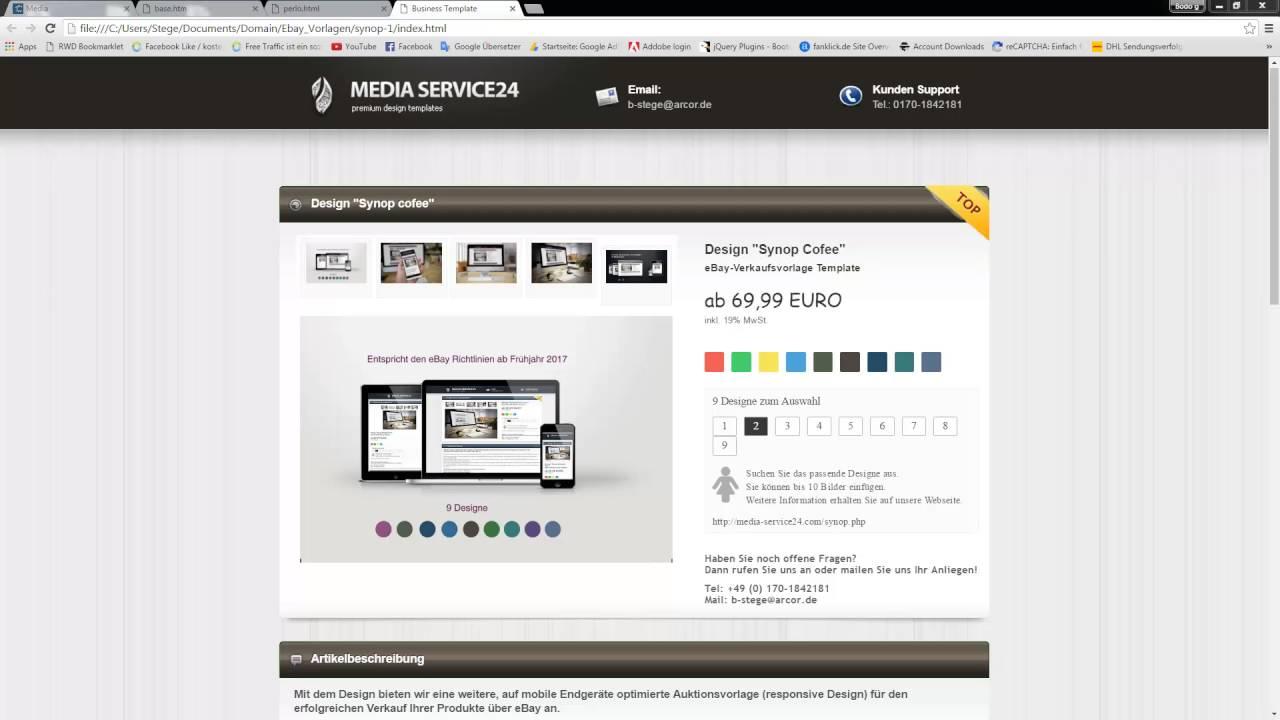 Auktionsvorlagen download ebay