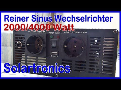 Einbau reiner Sinus Wechselrichter/Inverter Solartronics 2000 Watt und Steckdosen Panel