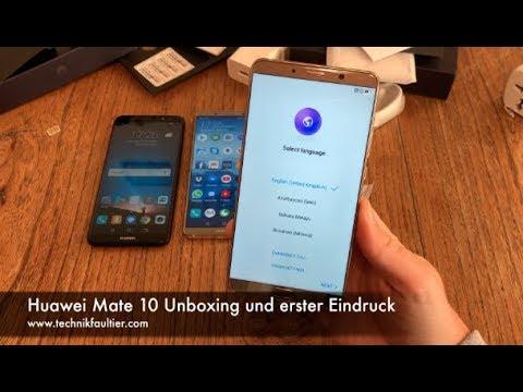 Huawei Mate 10 Unboxing und erster Eindruck