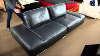Modern Leather Sectional Sofa With Adjustable Legs | (866)397-0933 Lafurniturestore.com