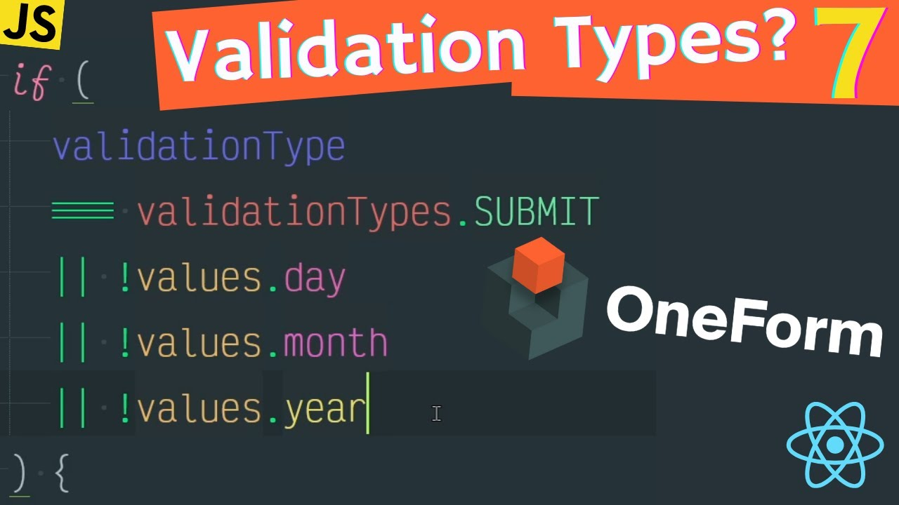 Forms have Validation TYPES and they MATTER!