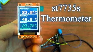 1.8 TFT LCD Display module ST7735S 128x160 Термометр (Ардуино)