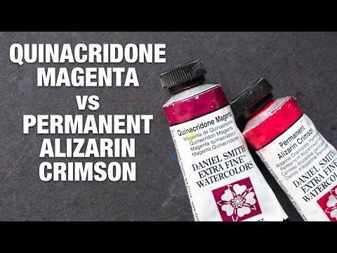 Quinacridone Magenta Vs Permanent Alizarin Crimson