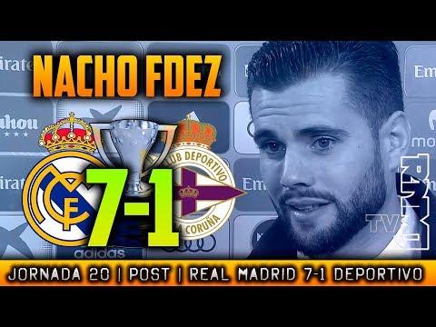 Declaraciones de NACHO post Real Madrid 7-1 Deportivo (21/01/2018) | LIGA JORNADA 20
