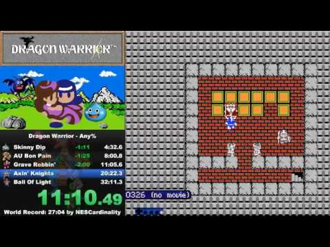 Dragon Warrior NES (Dragon Quest) world record speedrun (obsoleted) in 25:35
