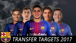 Top 10 barcelona transfer targets for 2017/18 season feat. marco verratti, paulo dybala, mesut ozil, philippe coutinho, hector bellerin .. etc... ☛ please su...