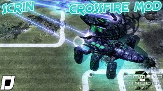 Crossfire MOD , Scrin , C&C 3 Tiberium Wars , 1v1 Vs Brutal AI , Skirmish Gameplay , 4K