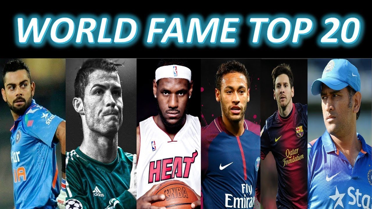 World Fame Top 20   ESPN WORLD FAME 100 Ranking 2019   Worlds Most Famous Athletes 2019
