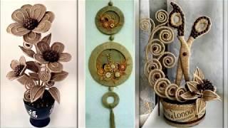 Jute Craft Decoration Design Collection 2019 | DIY Room Decor Idea 2019