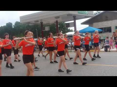 WINONA MIDDLE SCHOOL MATCHING BAND IN GOODVIEW DAYS PARADE 2018