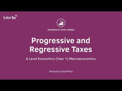 Progressive and Regressive Taxes