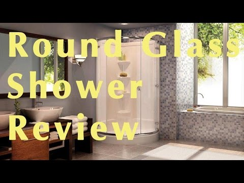 Walk In Round Glass Shower Enclosure Review   $514 At Home Depot