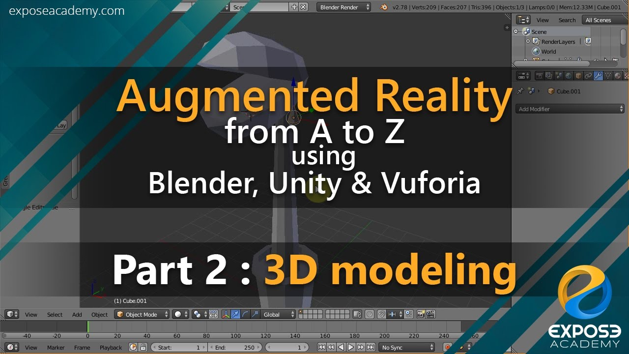 Making Augmented Reality app with Blender, Unity and Vuforia